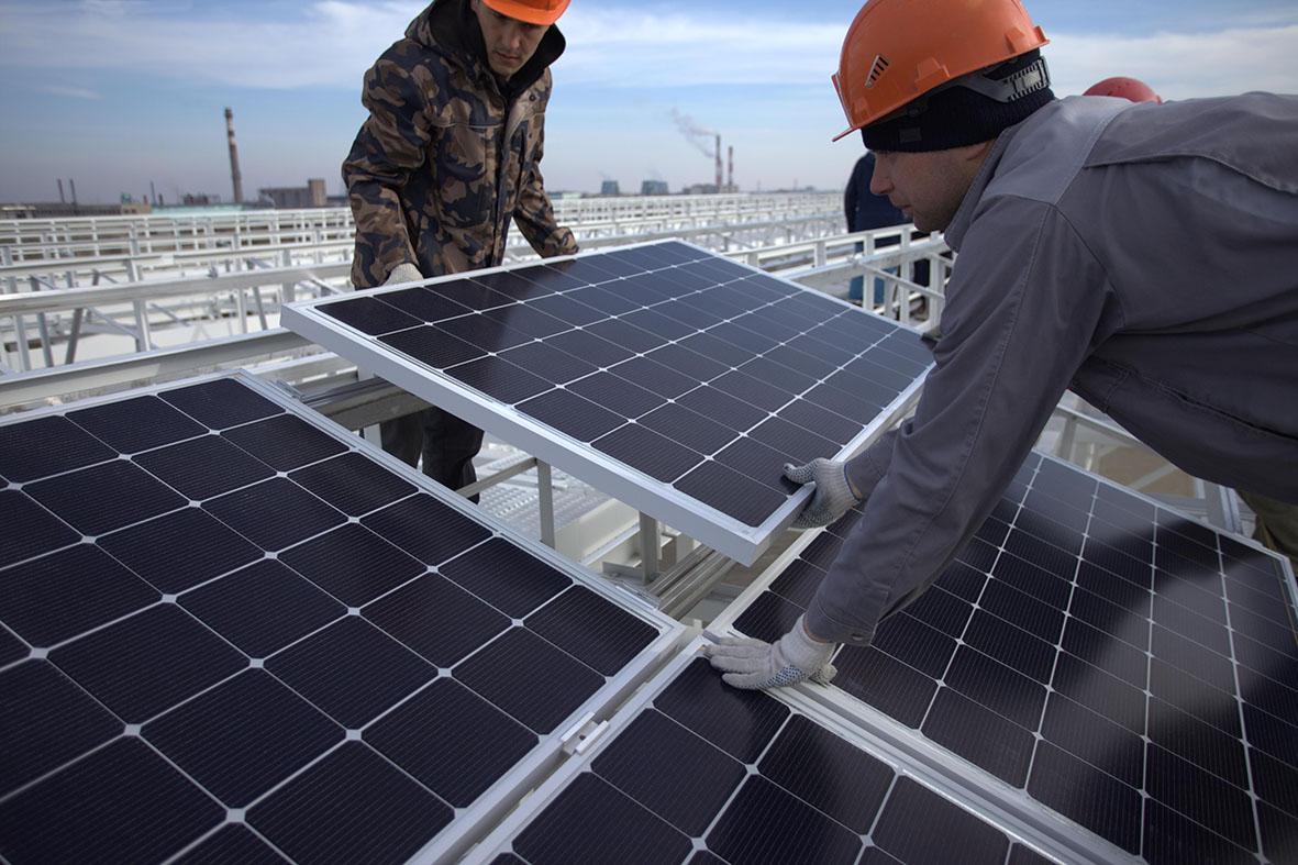 Монтаж промышленных солнечных электростанций