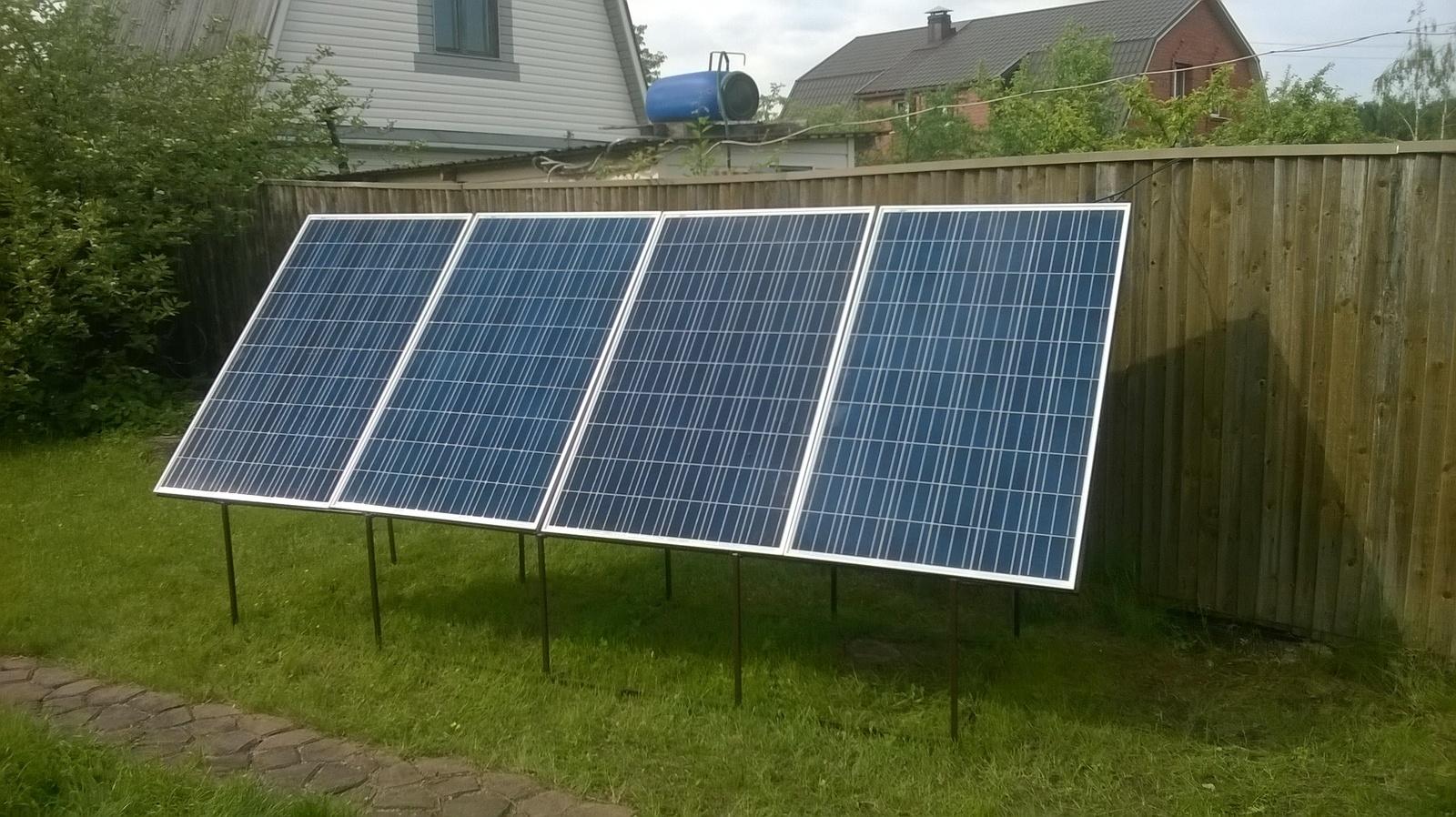 Солнечные панели дома